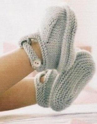 Вязание пинеток-сандалий