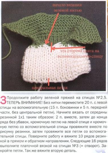 Пинетки связаны спицами 2.5 и 3. Пряжа 100% шерсть.  Схема вязания пинеток спицами.