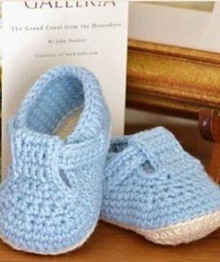 Детские туфельки крючком
