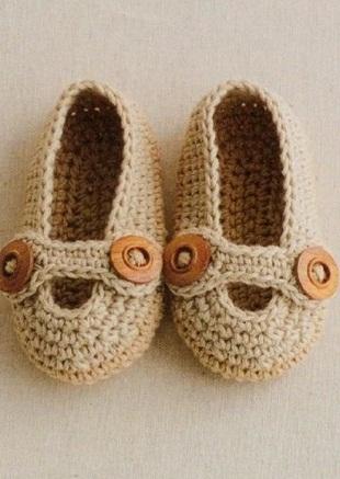 Туфельки-пинетки крючком