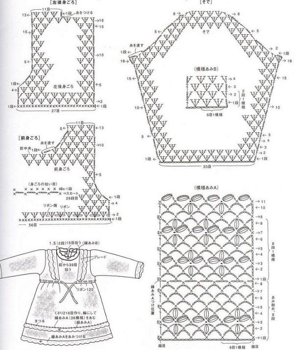 Платья крючком схемы рукава