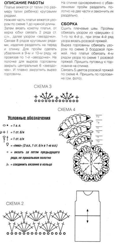 Платье для девочки крючком. http://clubmasteric.ru/vasanie-dla-...i-kruchkom.html.