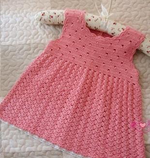 Вязание сарафана для девочки крючком
