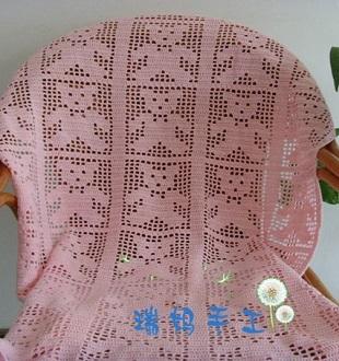 Филейное вязание пледа