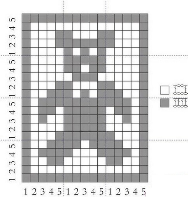 Схема вязания пледа мишки 948