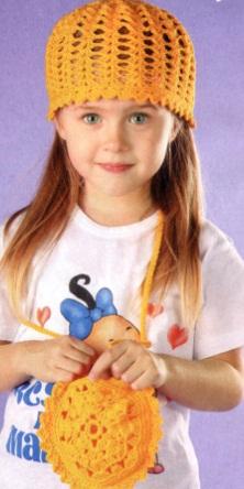 Детская панама крючком