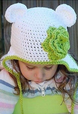 Детская шапочка с ушками крючком