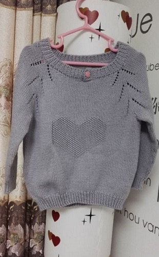 Пуловер с узором Сердце