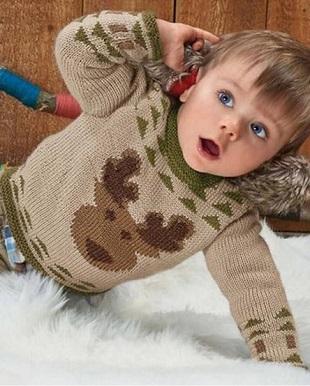 Узор Олень для свитера