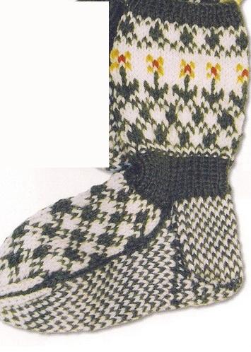 Схемы узоров для детских носков