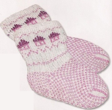 Схемы вязания носков спицами.