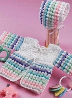 Вязание кофты для малышей
