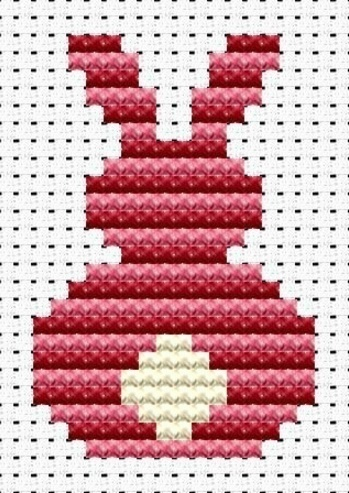 Схема зайца в свитере