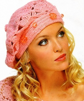 Вязание шапок: береты (модели с описанием ... берет связан крючком .