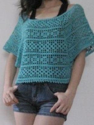 Блузка филейным вязанием