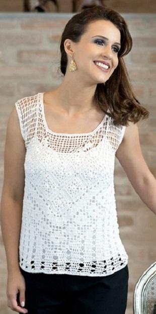 Вязание летней блузки