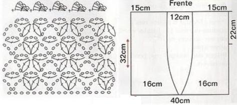 Вязание болеро схема