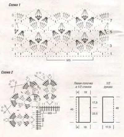 Ажурное болеро. http://subscribe.ru/group/rukodelie/782141. пишет: Ажурное болеро (вязание крючком) Крючок 3. Пряжа...