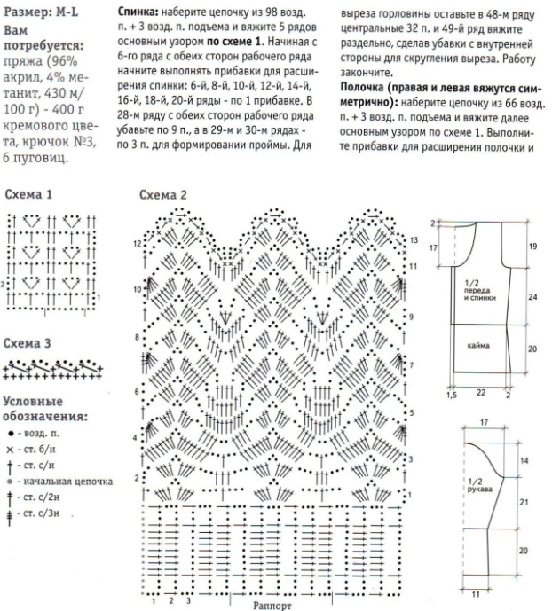 Вязание спицами из акрила схемы