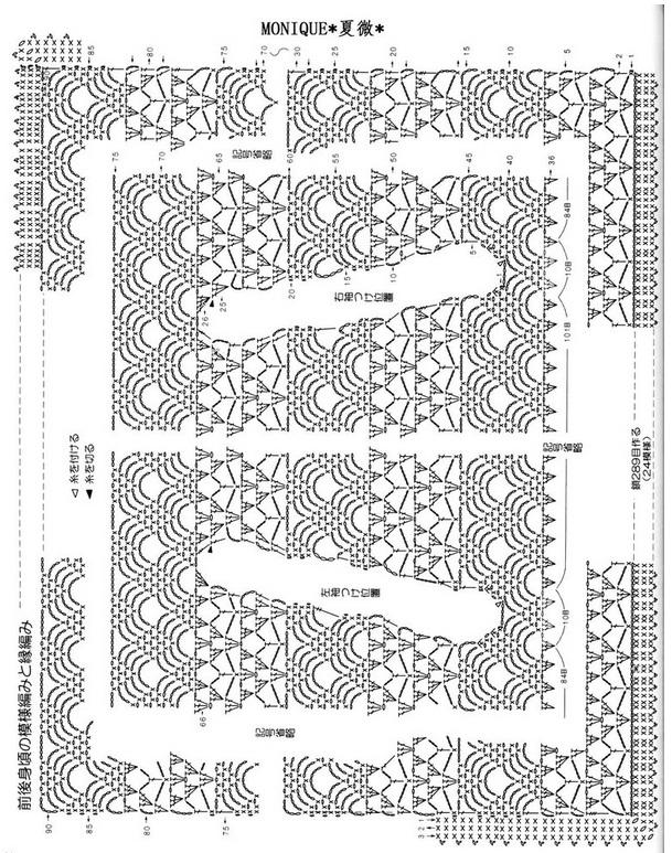 Схемы вязания необычных моделей