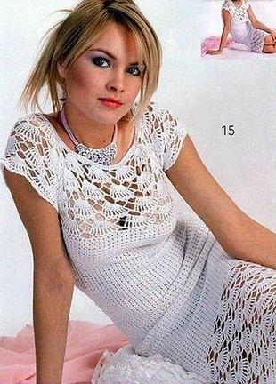 Вязание белого платья
