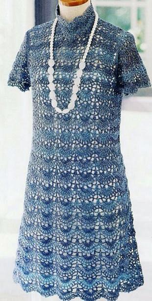 Новогоднее платье крючком