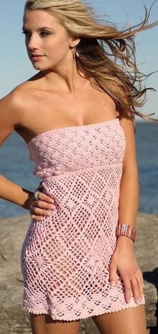 Вязание пляжного платья