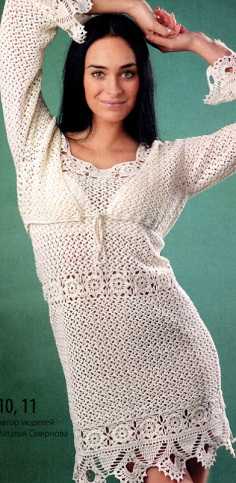 Knitted bolero and dress