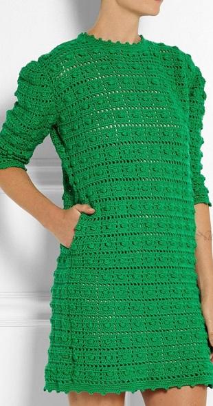 Платье узором Шишечки крючком
