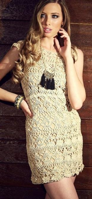 Кружевное платье крючком