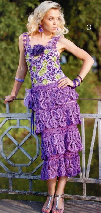 Openwork crochet dress