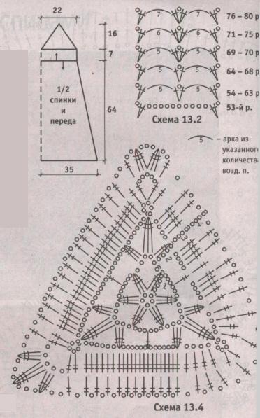 Вязаный сарафан, схема