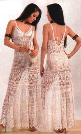 Long crochet dress