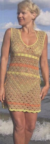 Summer openwork dress