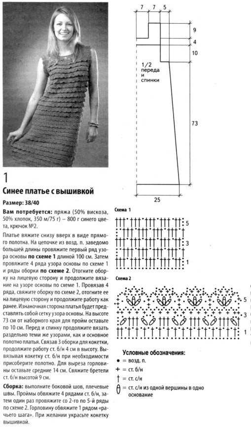 Model of the dress crochet scheme
