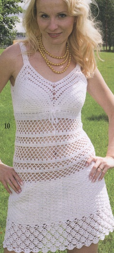 Knit a beach dress