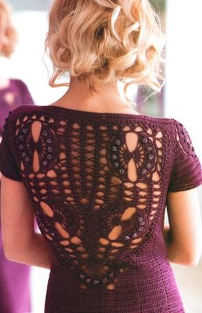 Красивое платье крючком 48265