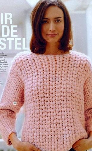 Узор для пуловера крючком