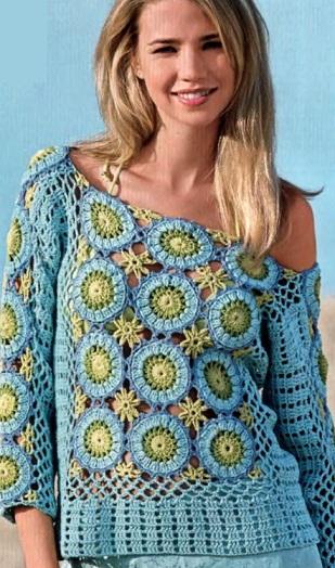 Как связать пуловер крючком
