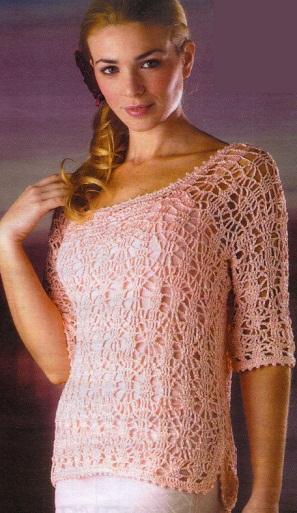 Вязанный пуловер