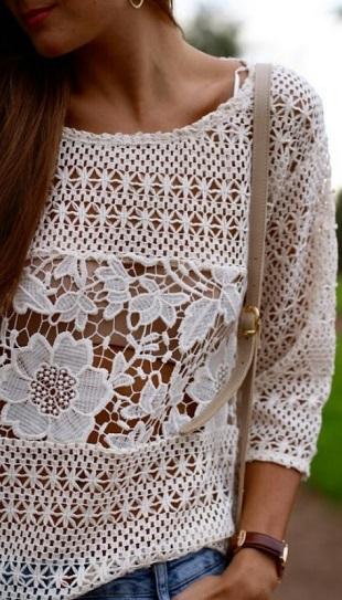 Подборка узоров для вязания пуловера крючком