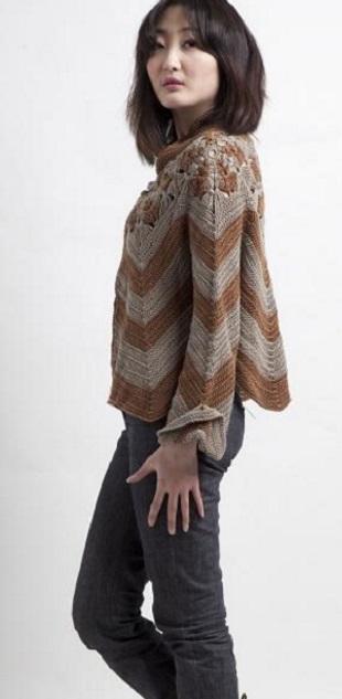 Свободный пуловер крючком