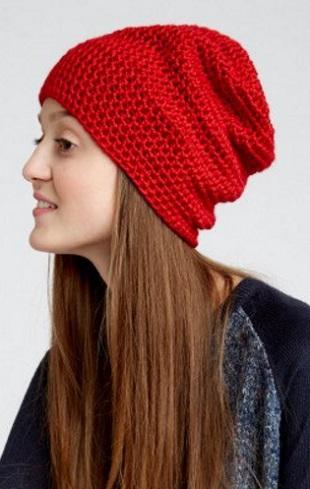 Модная шапка крючком