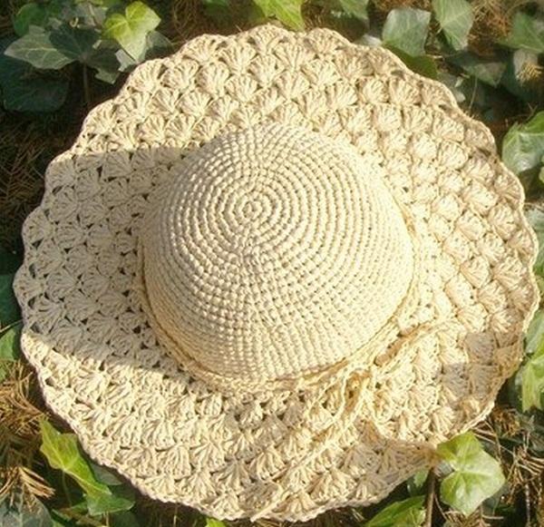 Летняя шляпа из хлопковой