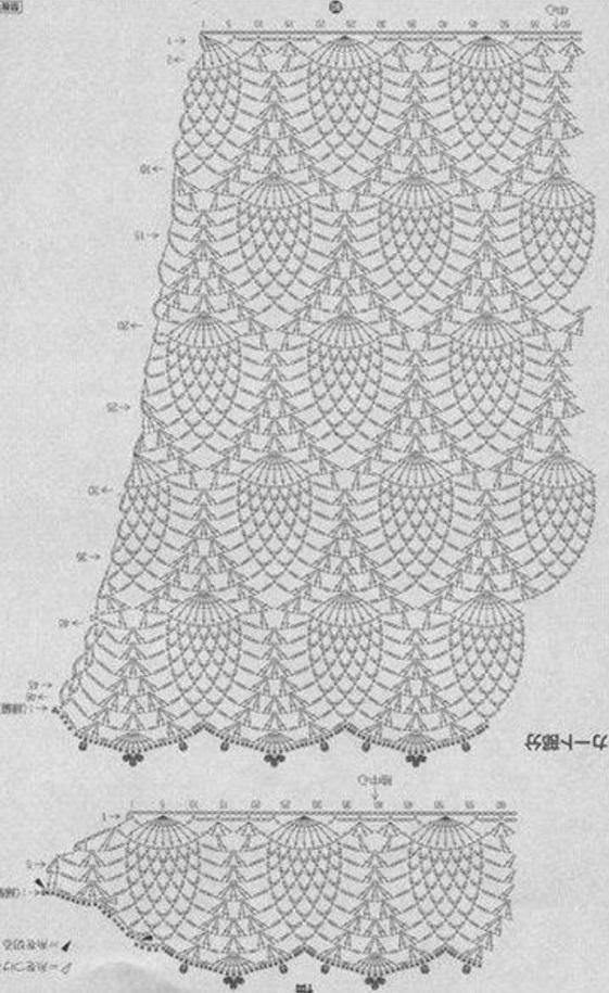 Вязанные шорты-юбка крючком
