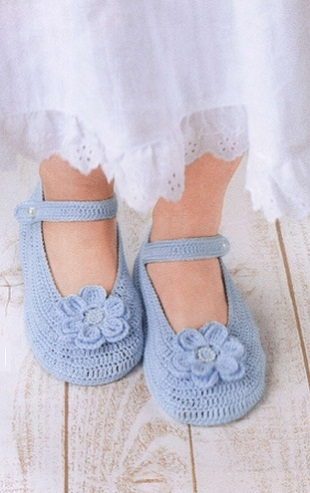 Тапочки-туфельки крючком