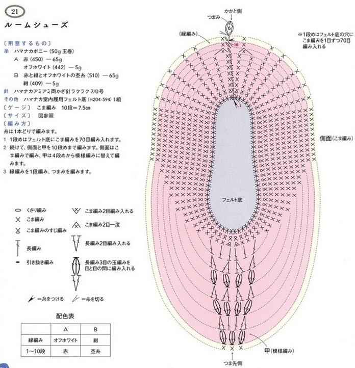 Схема вязания чешки крючком 16