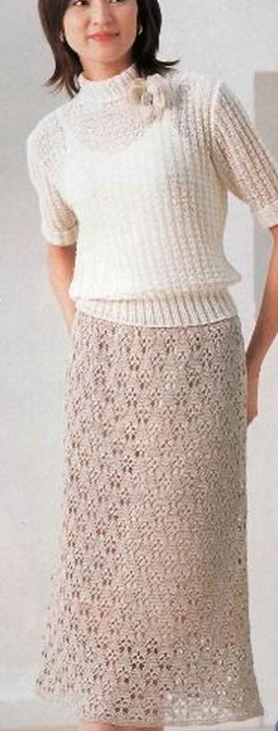 Схема ажурной юбки