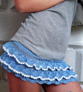 Openwork crochet skirt