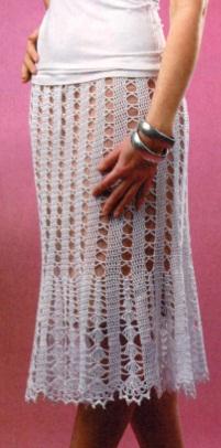 Openwork skirt